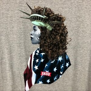 Akoo Men's Lady Liberty Short Sleeve Graphic Tee